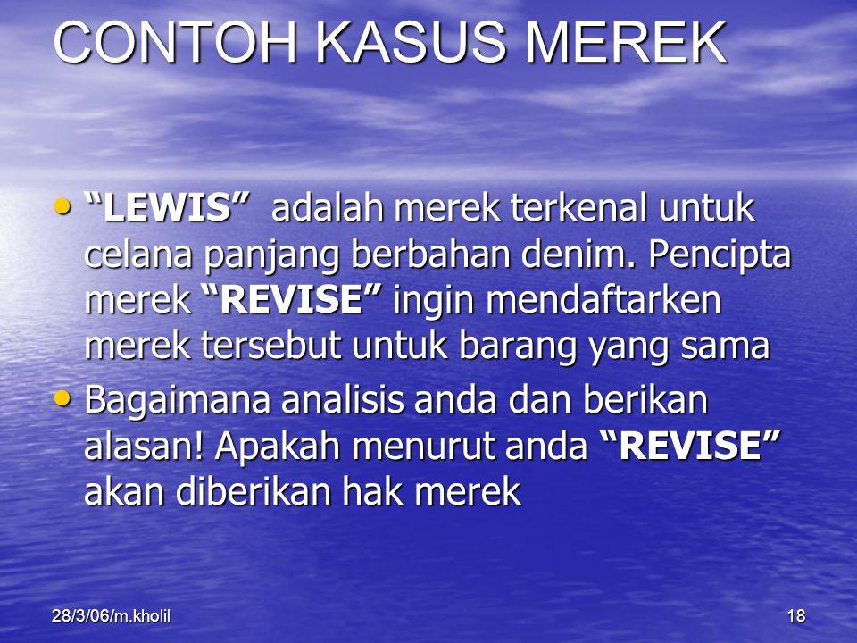 CONTOH KASUS MEREK