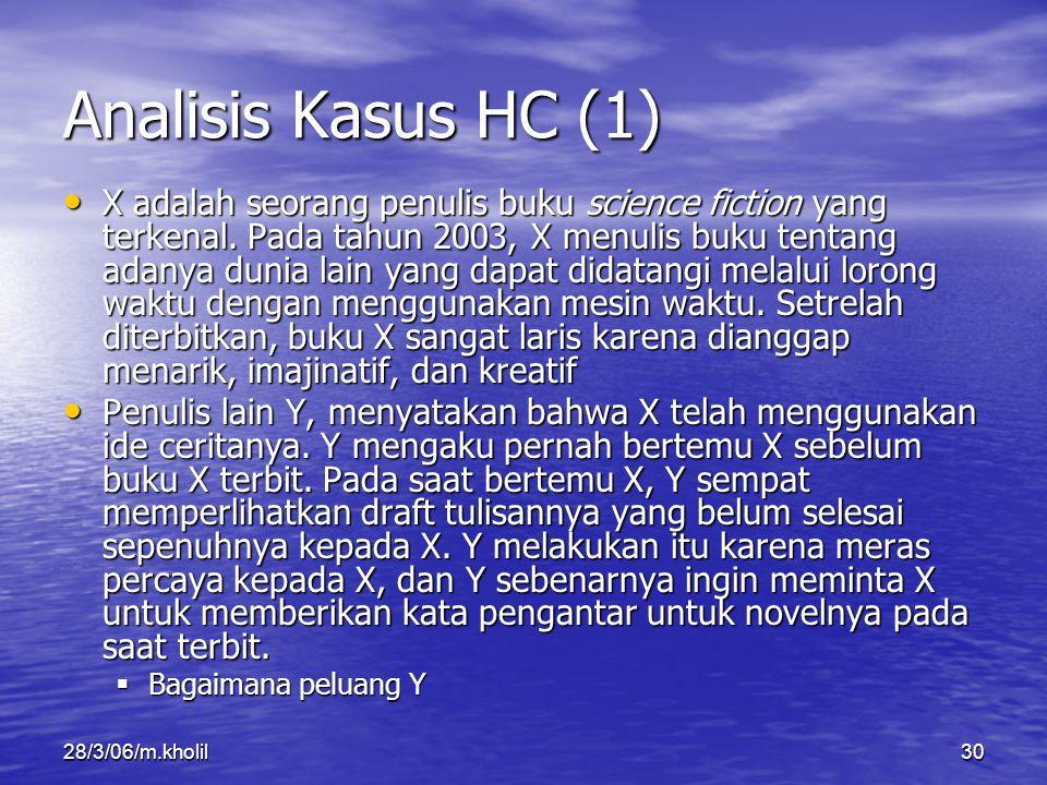 Analisis Kasus HC (1)
