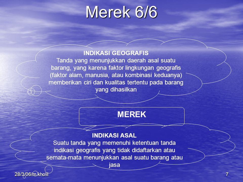 Merek 6/6 MEREK INDIKASI GEOGRAFIS