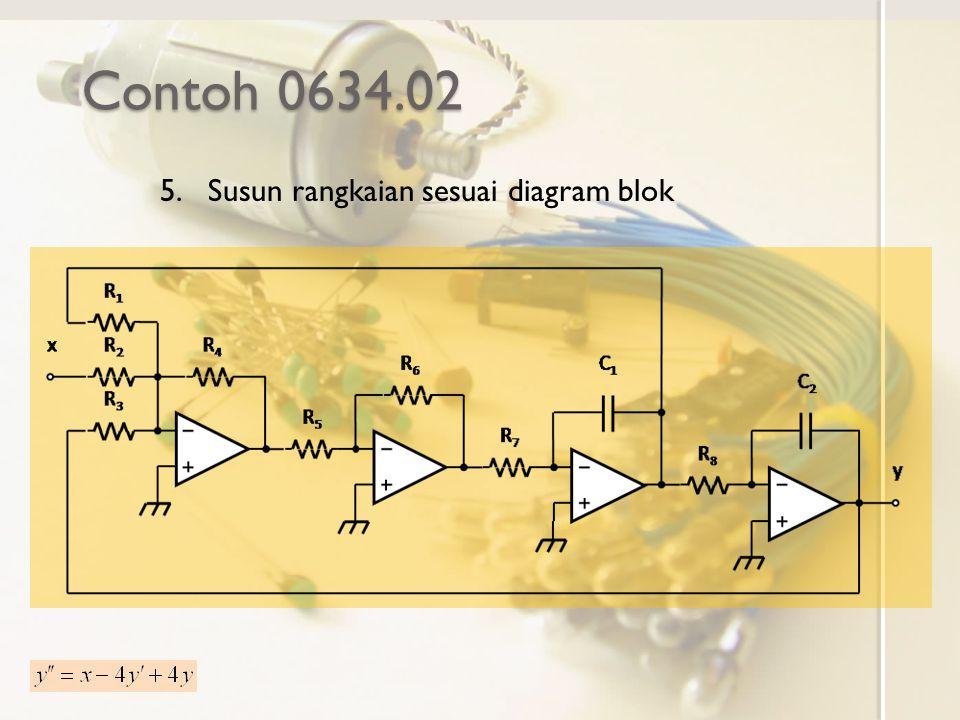 Contoh 0634.02 Susun rangkaian sesuai diagram blok