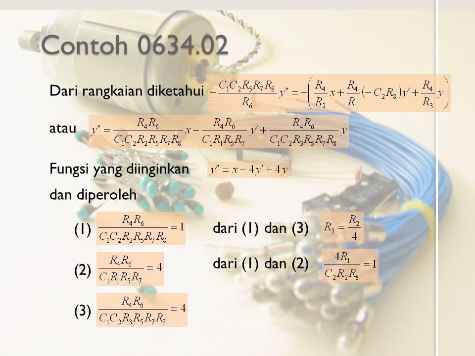 Contoh 0634.02 Dari rangkaian diketahui atau Fungsi yang diinginkan