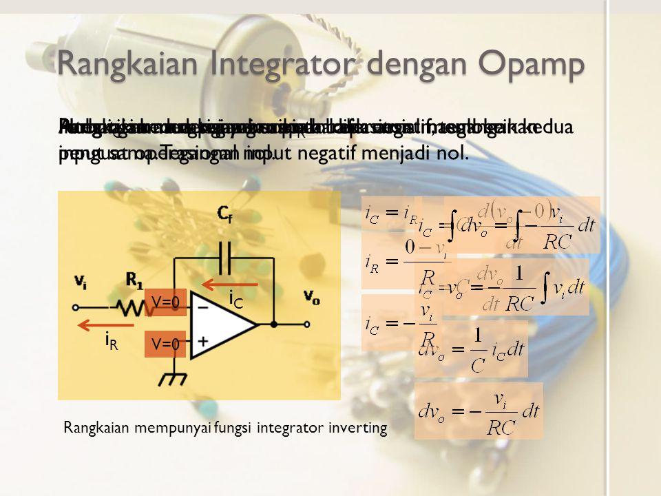 Rangkaian Integrator dengan Opamp