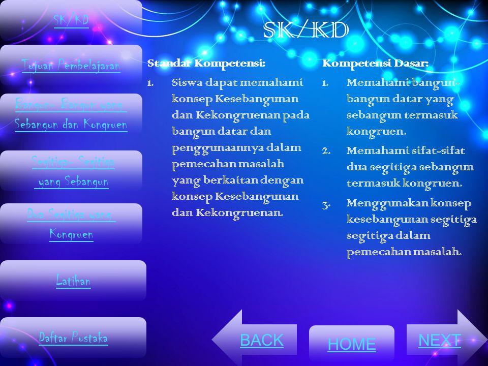 SK/KD SK/KD Tujuan Pembelajaran Bangun- Bangun yang