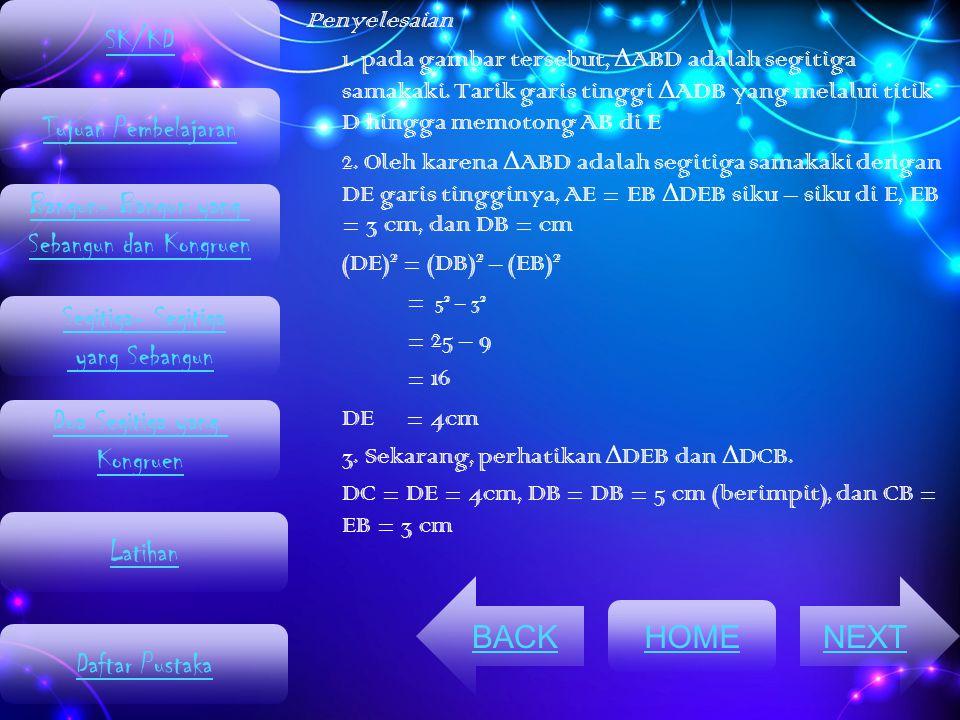 SK/KD Tujuan Pembelajaran Bangun- Bangun yang Sebangun dan Kongruen