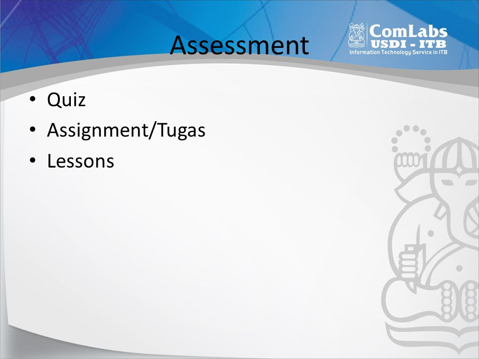 Assessment Quiz Assignment/Tugas Lessons