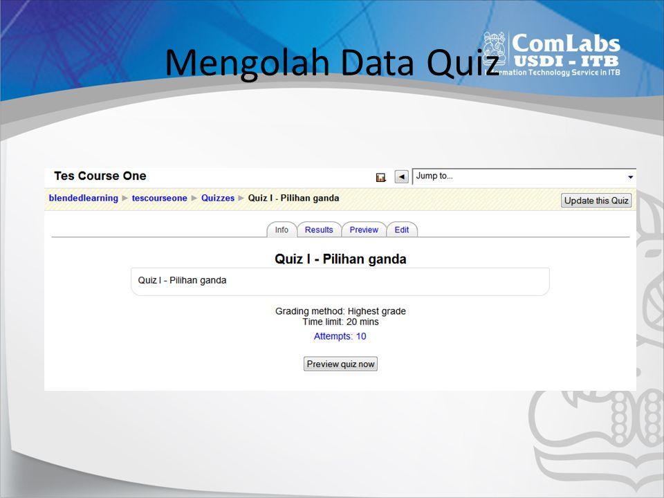 Mengolah Data Quiz