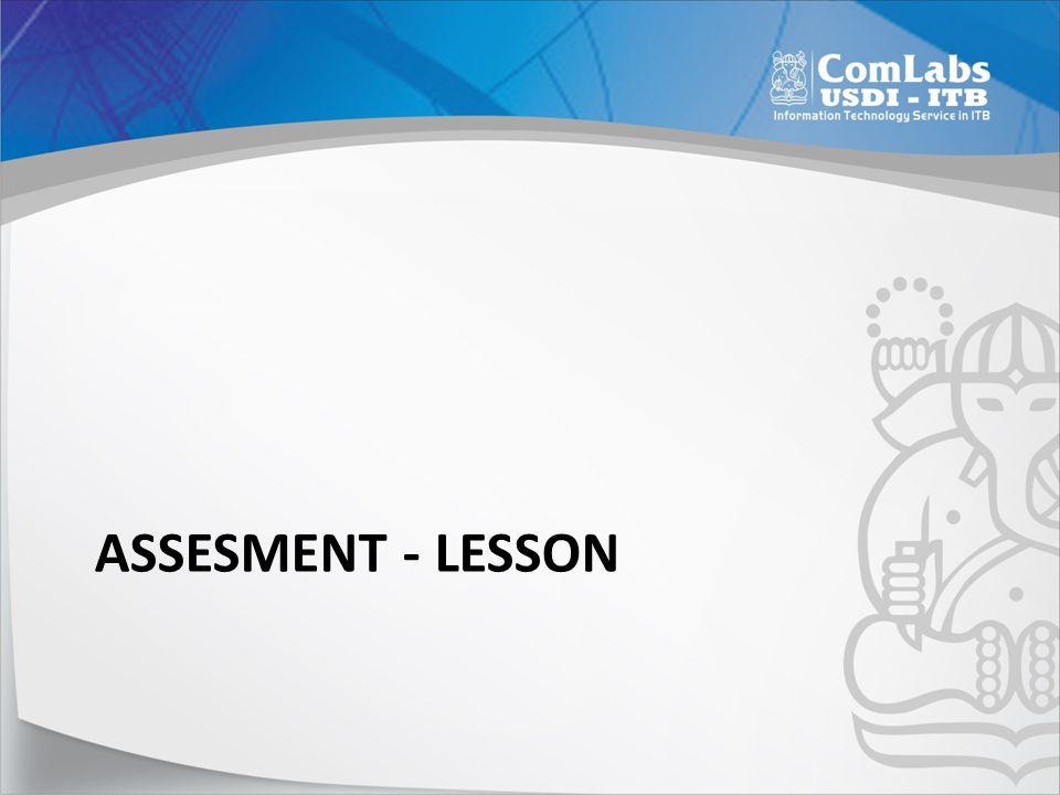 Assesment - Lesson