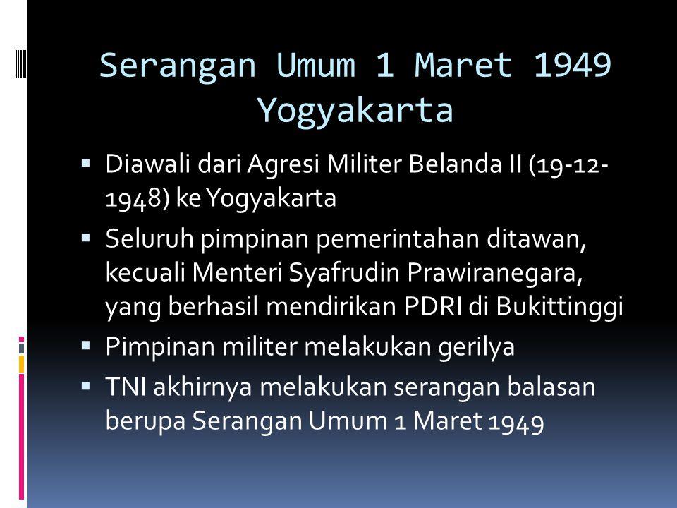 Serangan Umum 1 Maret 1949 Yogyakarta
