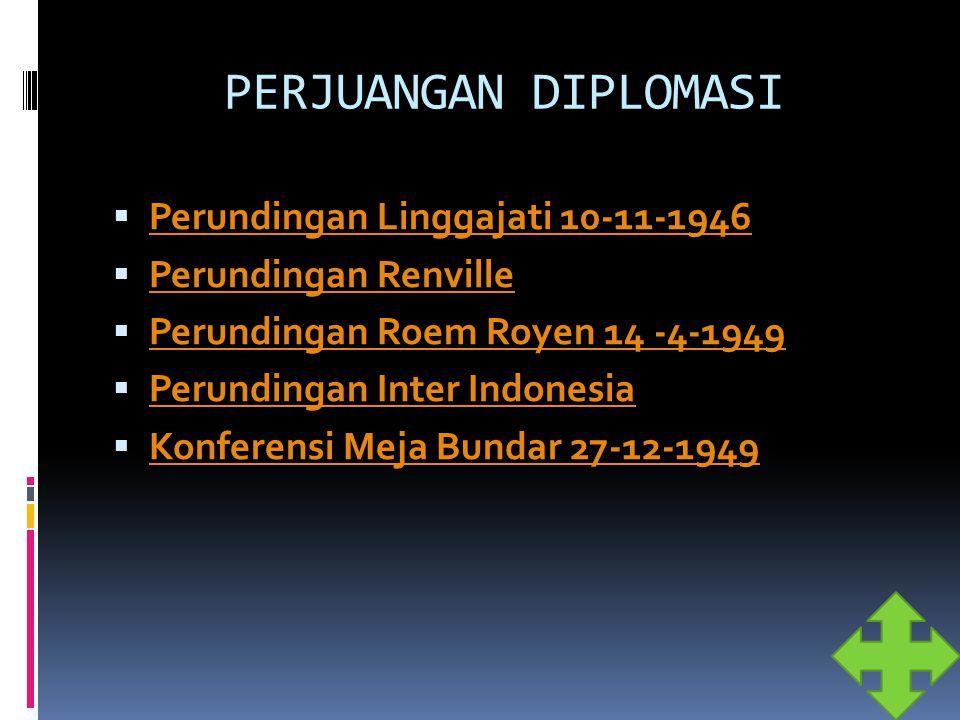 PERJUANGAN DIPLOMASI Perundingan Linggajati 10-11-1946
