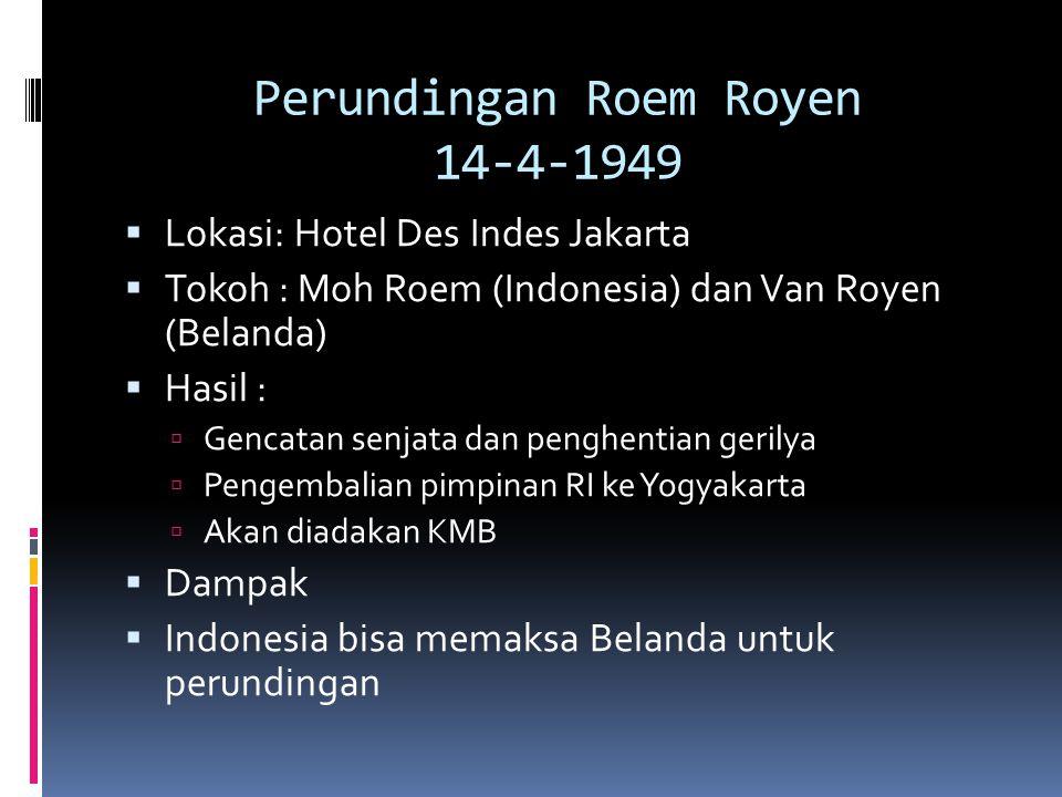 Perundingan Roem Royen 14-4-1949