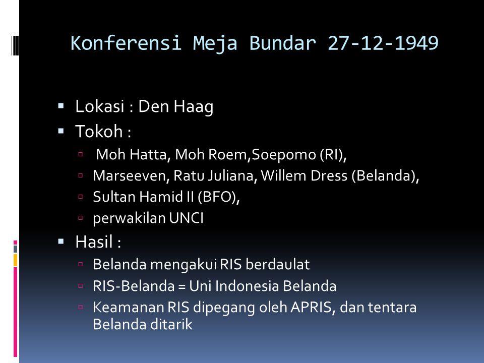 Konferensi Meja Bundar 27-12-1949