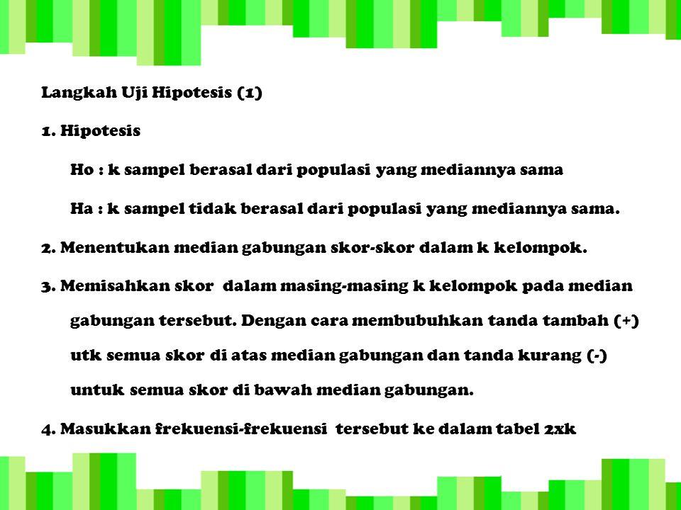 Langkah Uji Hipotesis (1) 1