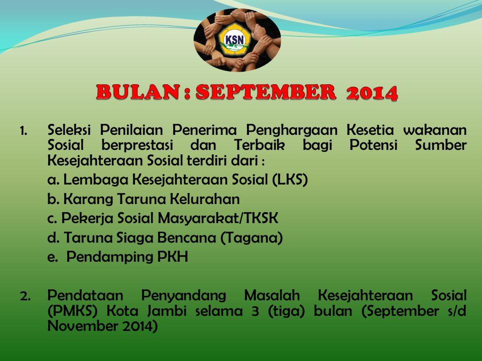 BULAN : SEPTEMBER 2014