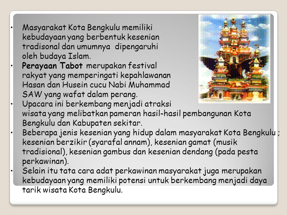 Masyarakat Kota Bengkulu memiliki