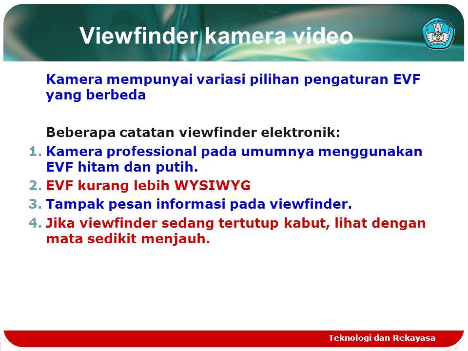 Viewfinder kamera video