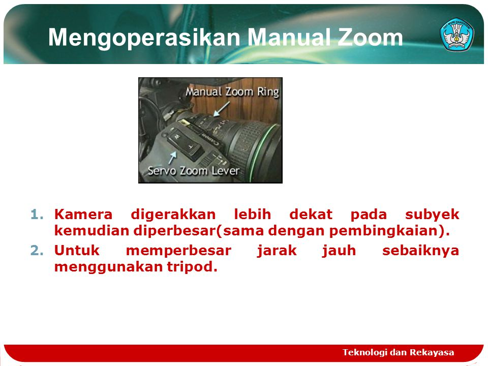 Mengoperasikan Manual Zoom