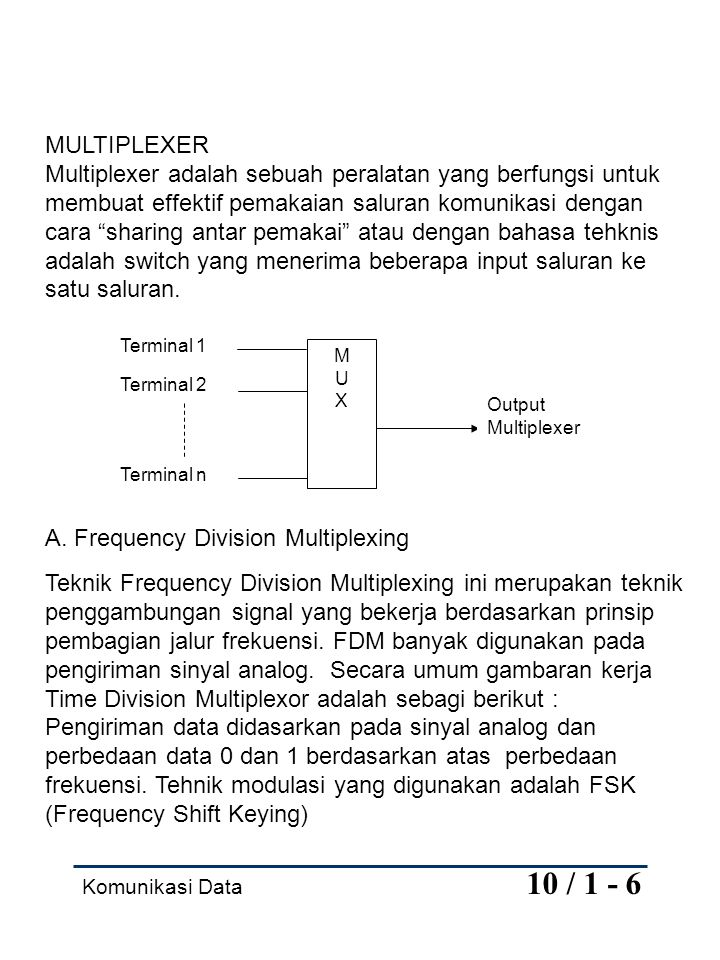A. Frequency Division Multiplexing