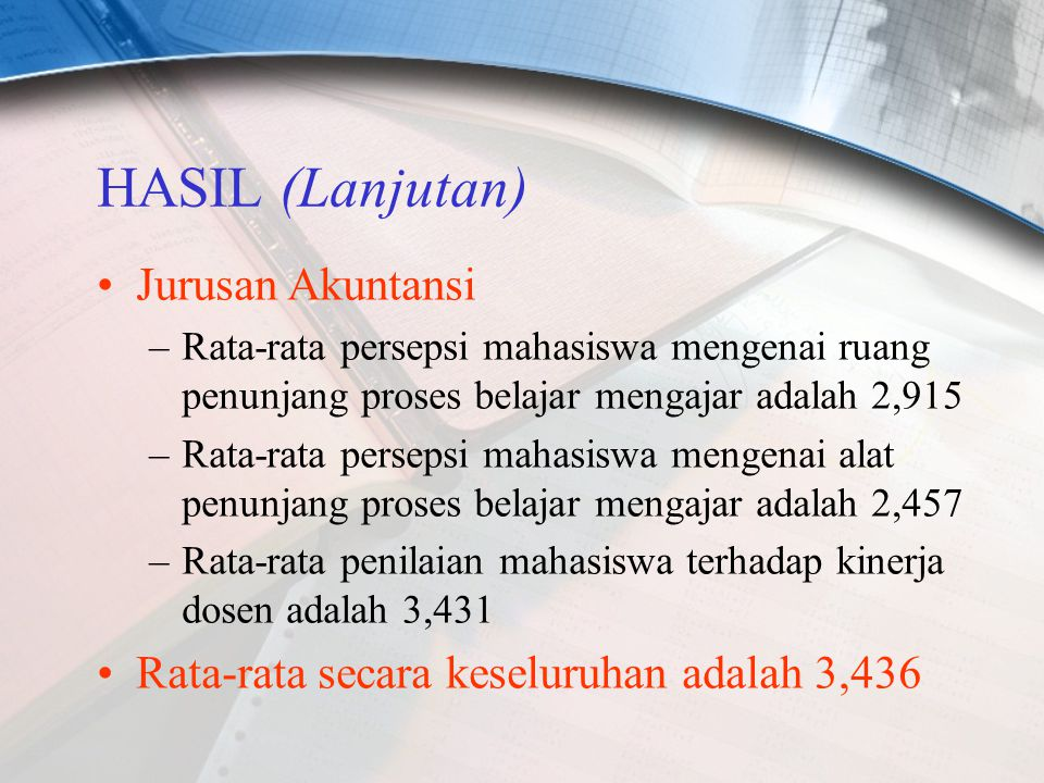 HASIL (Lanjutan) Jurusan Akuntansi