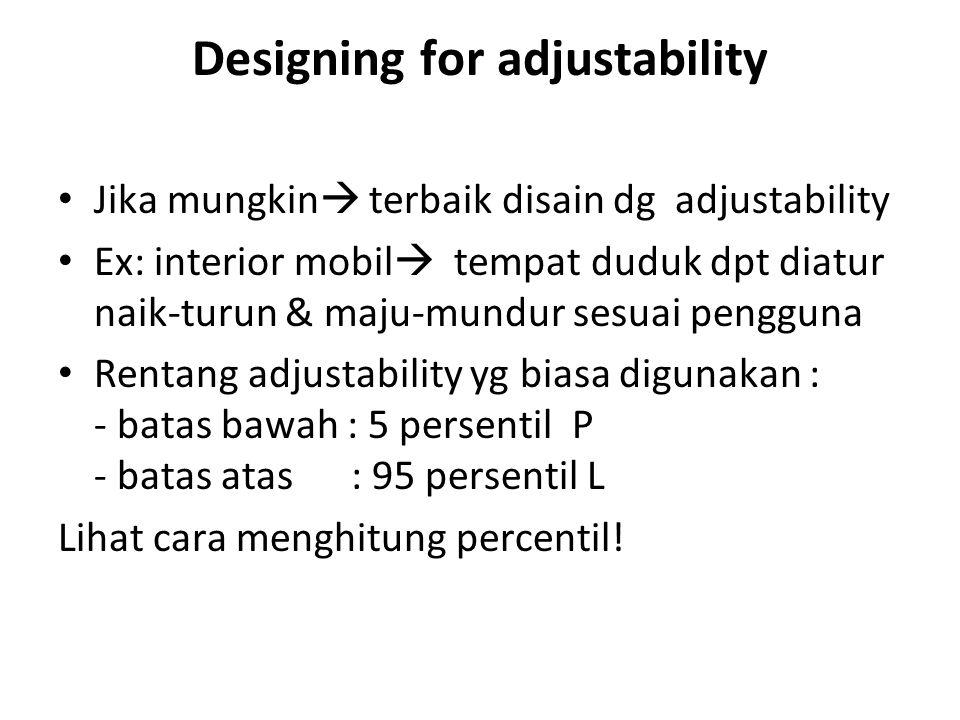Designing for adjustability