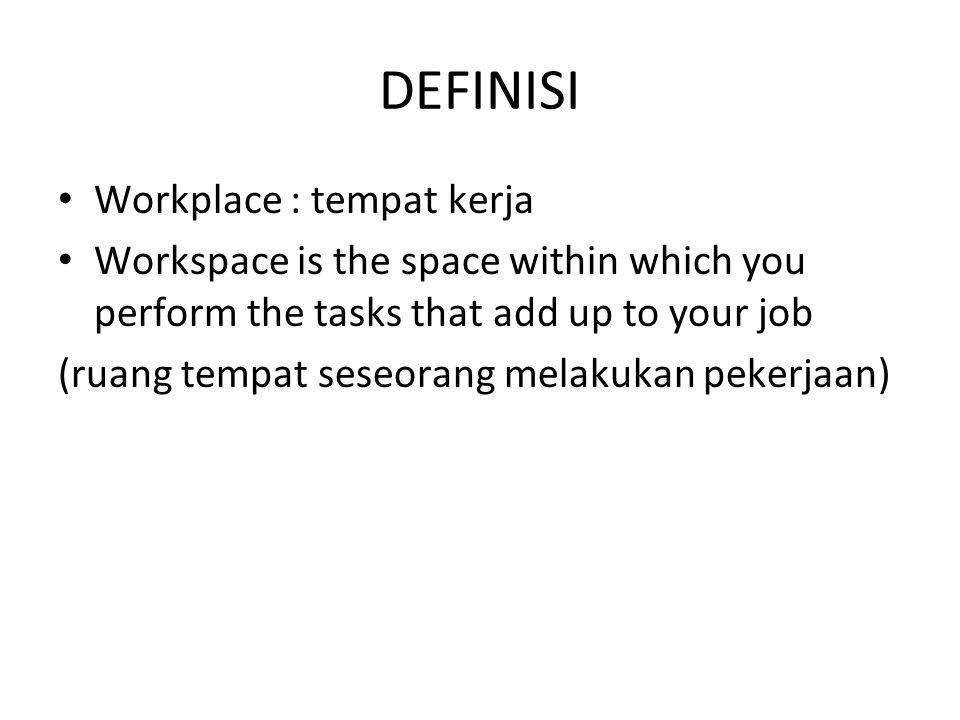 DEFINISI Workplace : tempat kerja