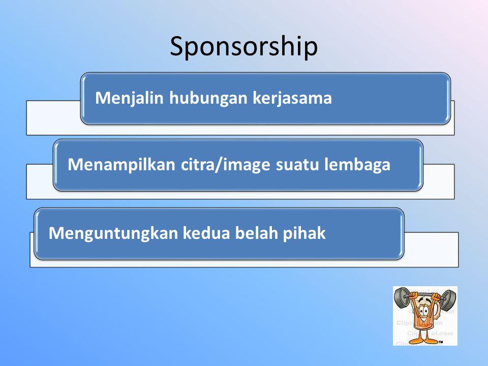 Sponsorship Menjalin hubungan kerjasama