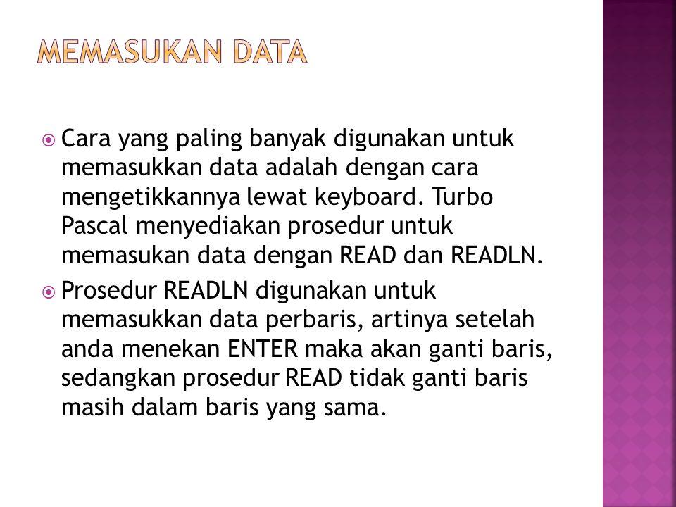 MEMASUKAN DATA