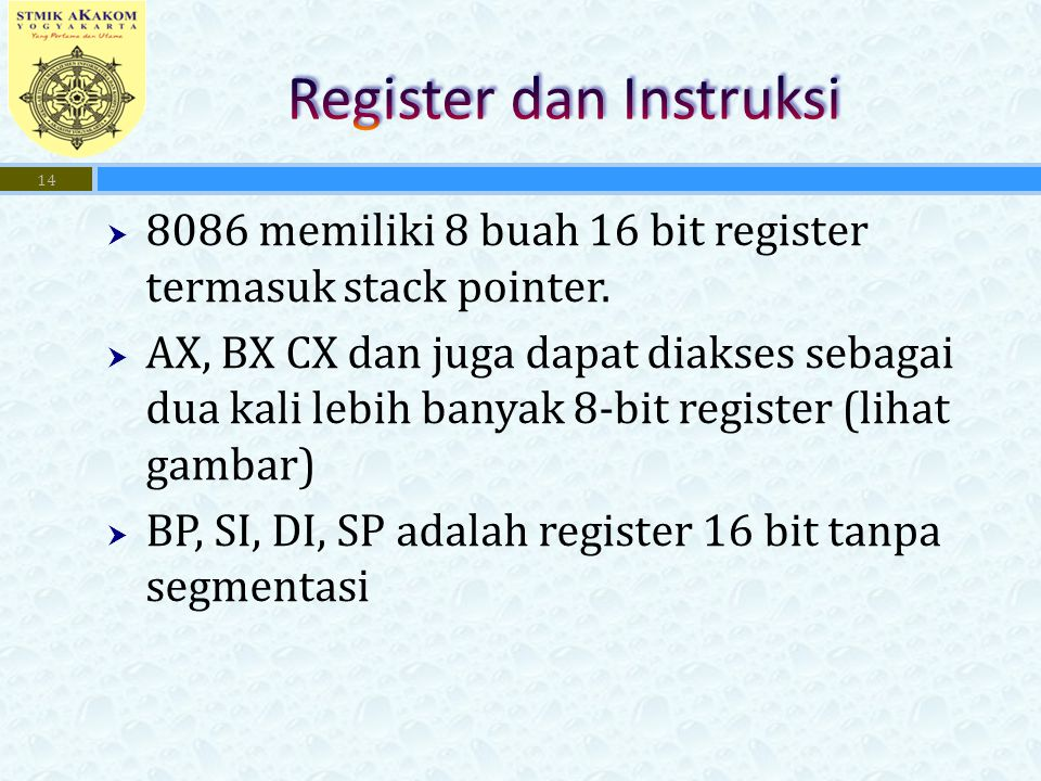 Register dan Instruksi