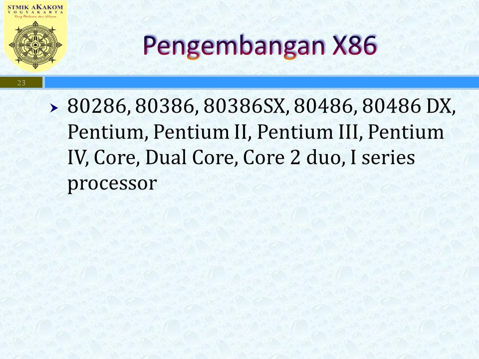 Pengembangan X86