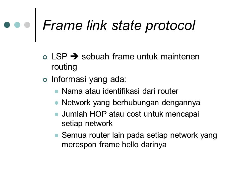 Frame link state protocol