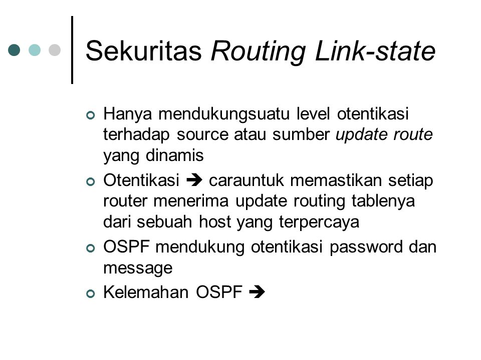 Sekuritas Routing Link-state