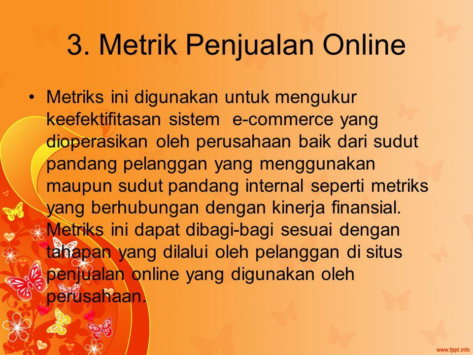 3. Metrik Penjualan Online