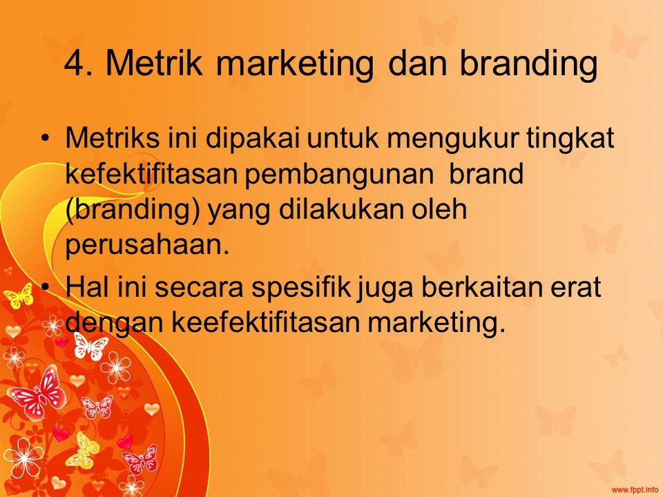 4. Metrik marketing dan branding