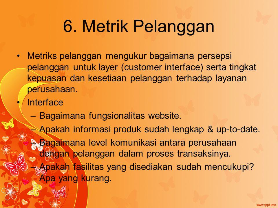 6. Metrik Pelanggan
