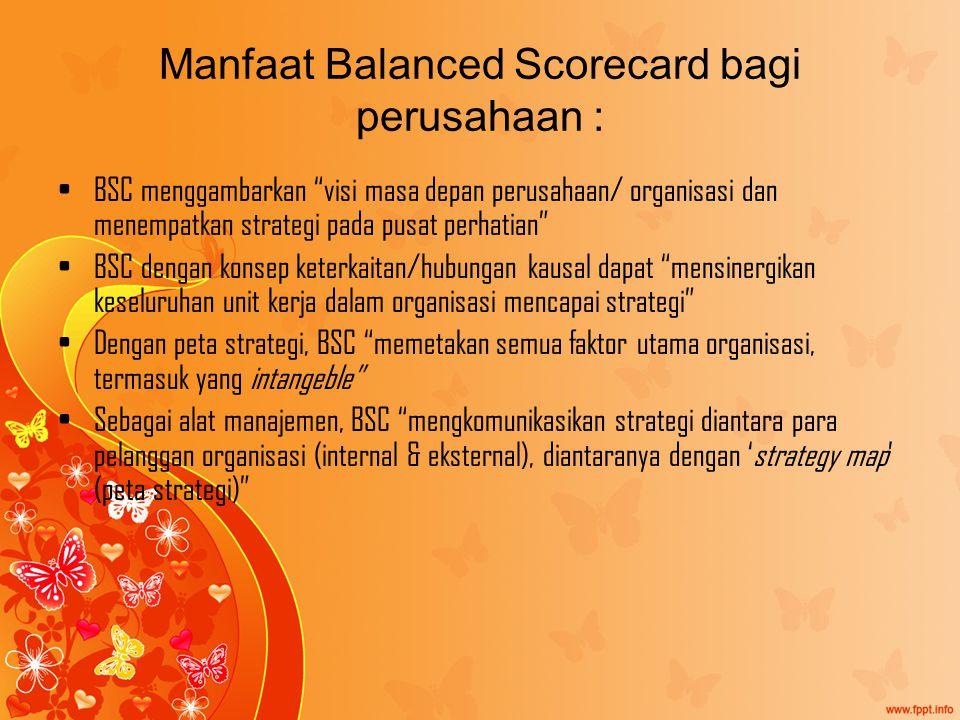 Manfaat Balanced Scorecard bagi perusahaan :