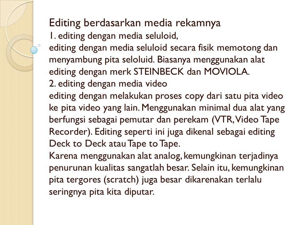 Editing berdasarkan media rekamnya 1