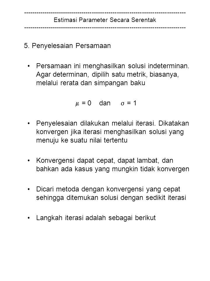 5. Penyelesaian Persamaan