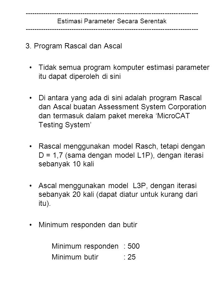 3. Program Rascal dan Ascal
