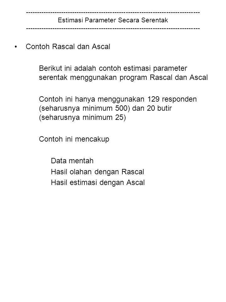 Contoh Rascal dan Ascal