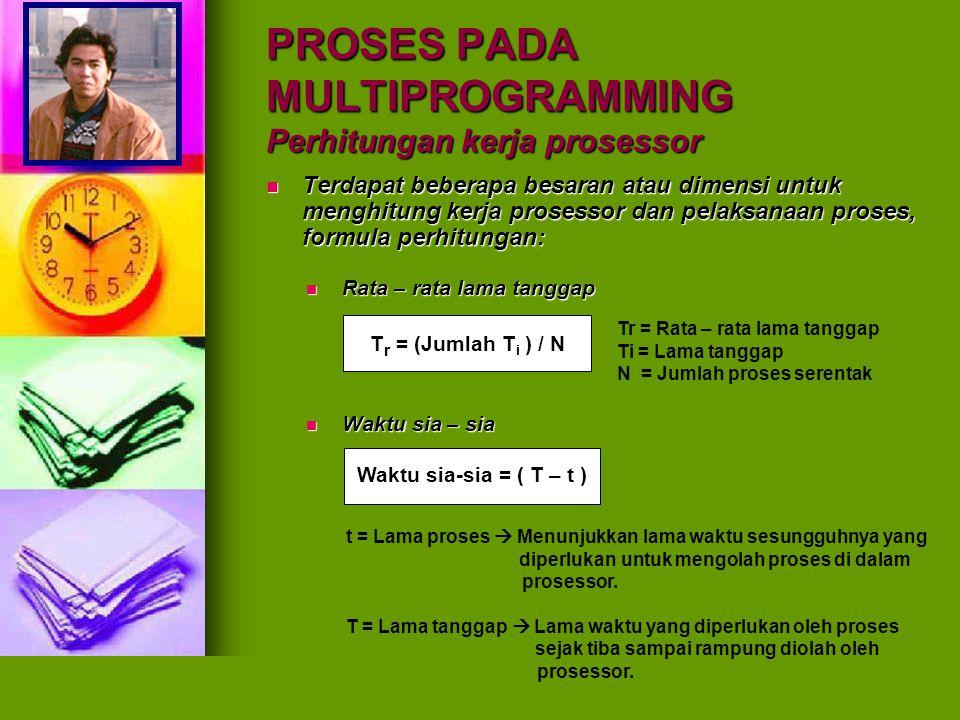 PROSES PADA MULTIPROGRAMMING Perhitungan kerja prosessor