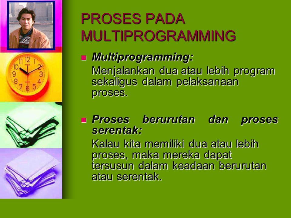 PROSES PADA MULTIPROGRAMMING