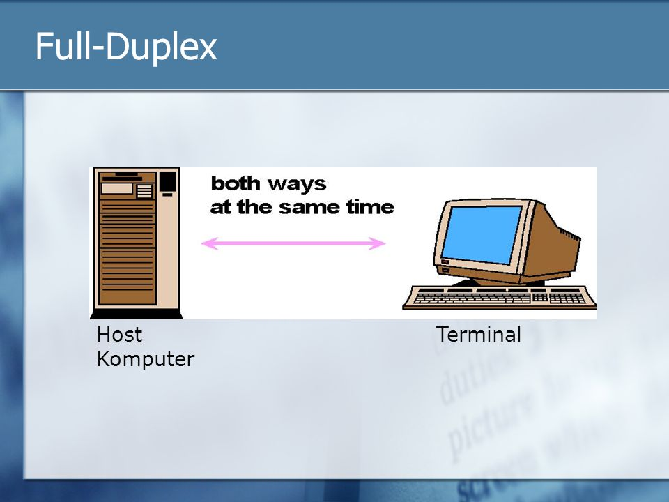 Full-Duplex Host Komputer Terminal
