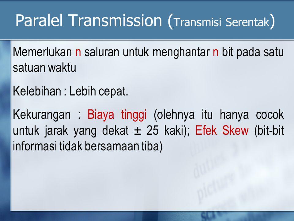 Paralel Transmission (Transmisi Serentak)