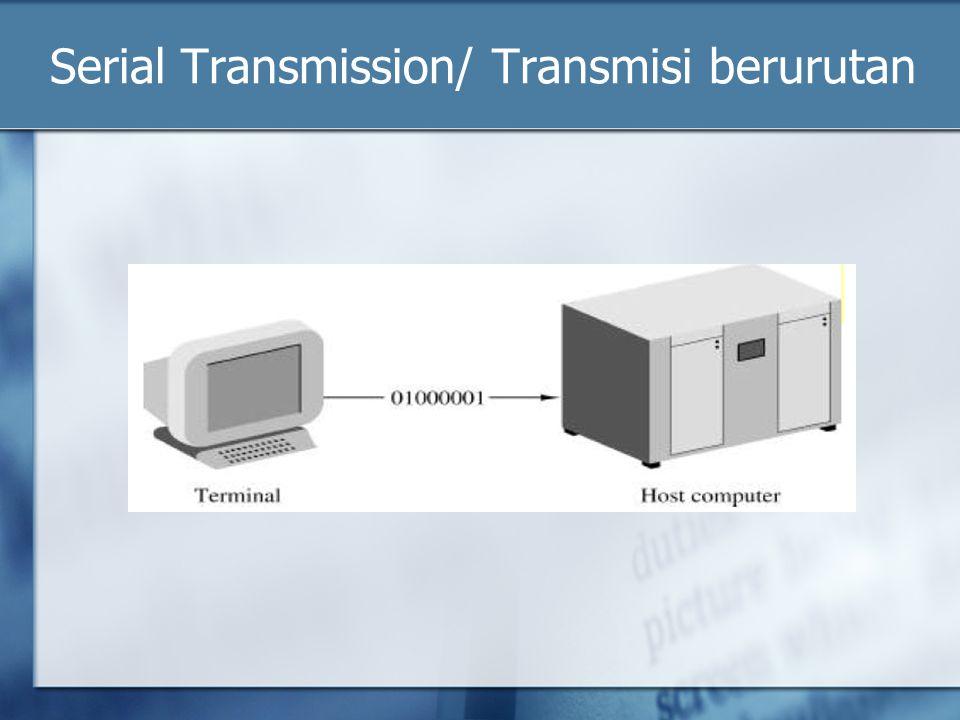 Serial Transmission/ Transmisi berurutan