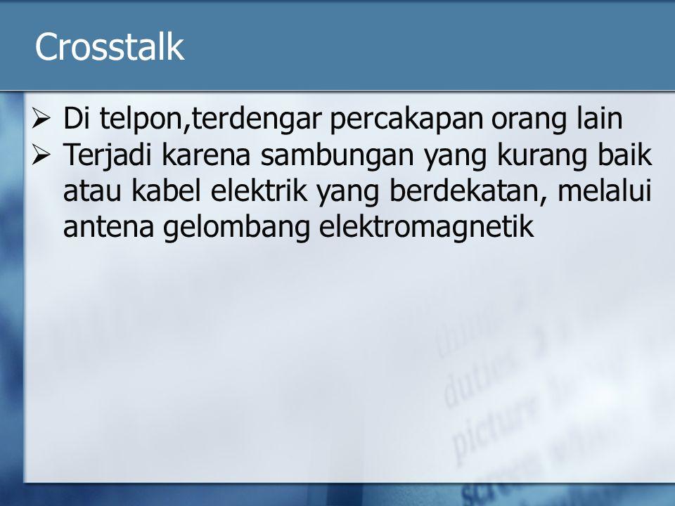 Crosstalk Di telpon,terdengar percakapan orang lain