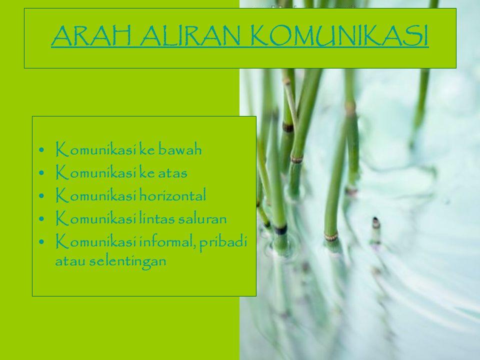 ARAH ALIRAN KOMUNIKASI