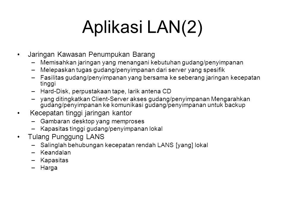 Aplikasi LAN(2) Jaringan Kawasan Penumpukan Barang