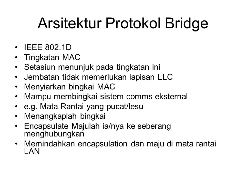 Arsitektur Protokol Bridge