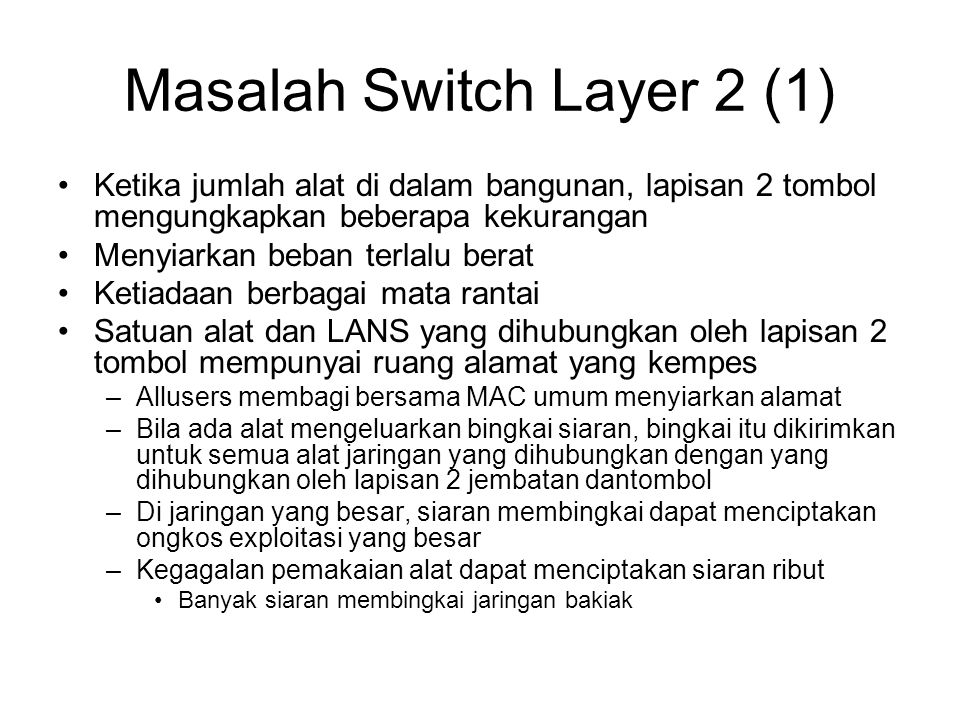 Masalah Switch Layer 2 (1)
