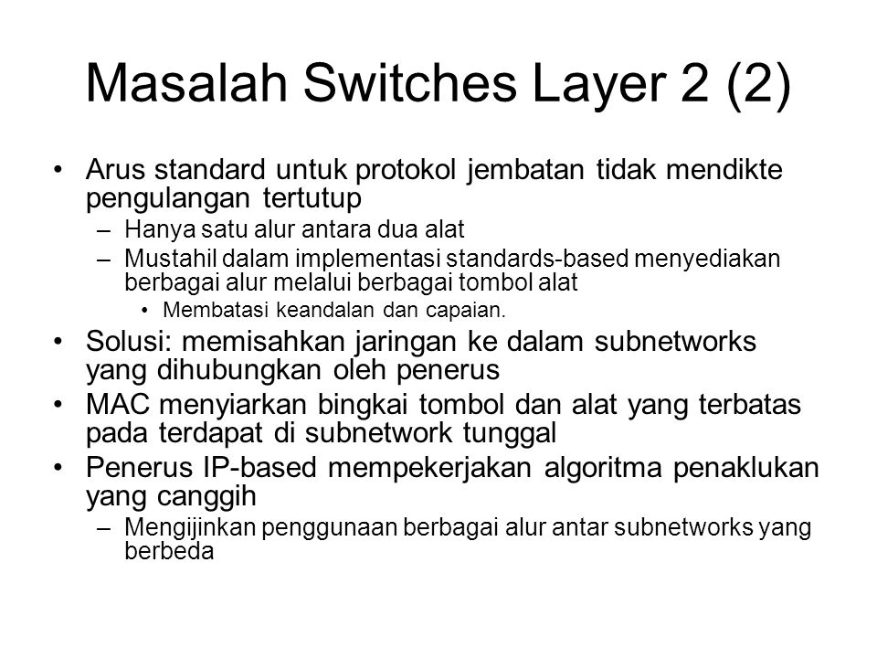 Masalah Switches Layer 2 (2)