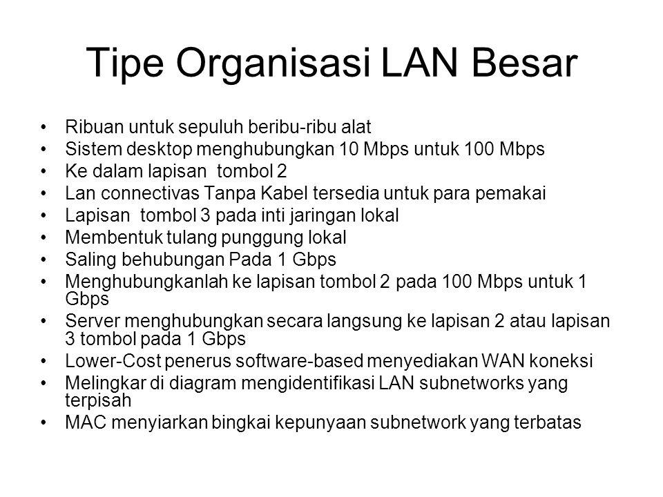 Tipe Organisasi LAN Besar